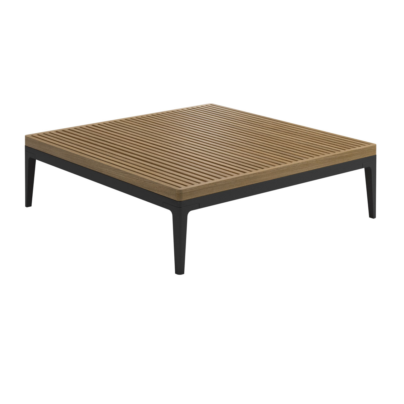 Gloster Grid Lounge Square Teak Coffee Table – Luxury