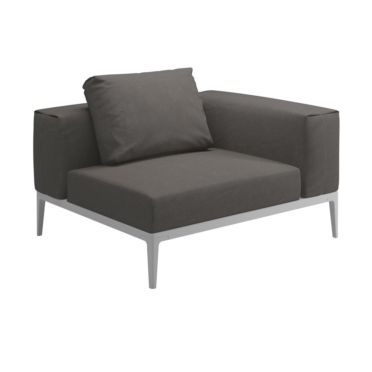 gloster grid modular sofa corner unit luxury outdoor