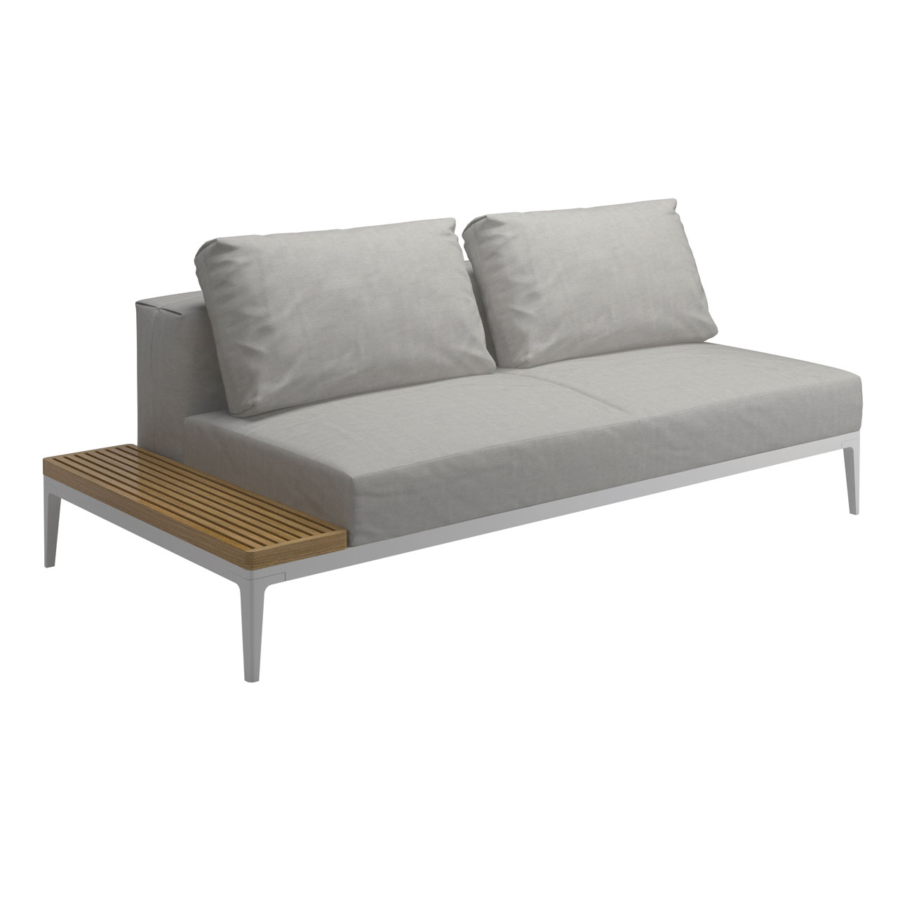 Gloster grid modular sofa end table unit luxury for Sofa modular gris