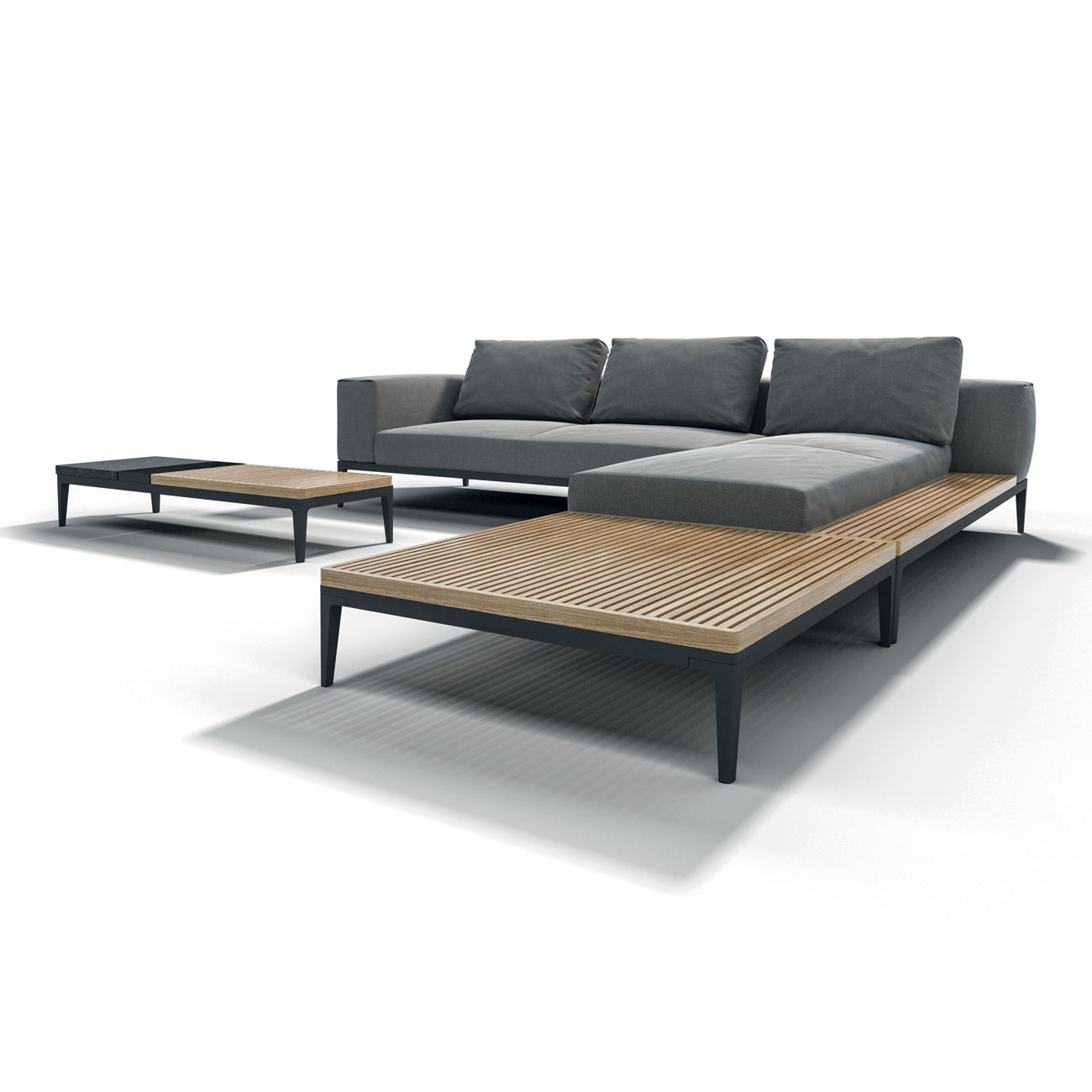 Gloster Grid Modular Sofa End Unit Luxury Outdoor Living