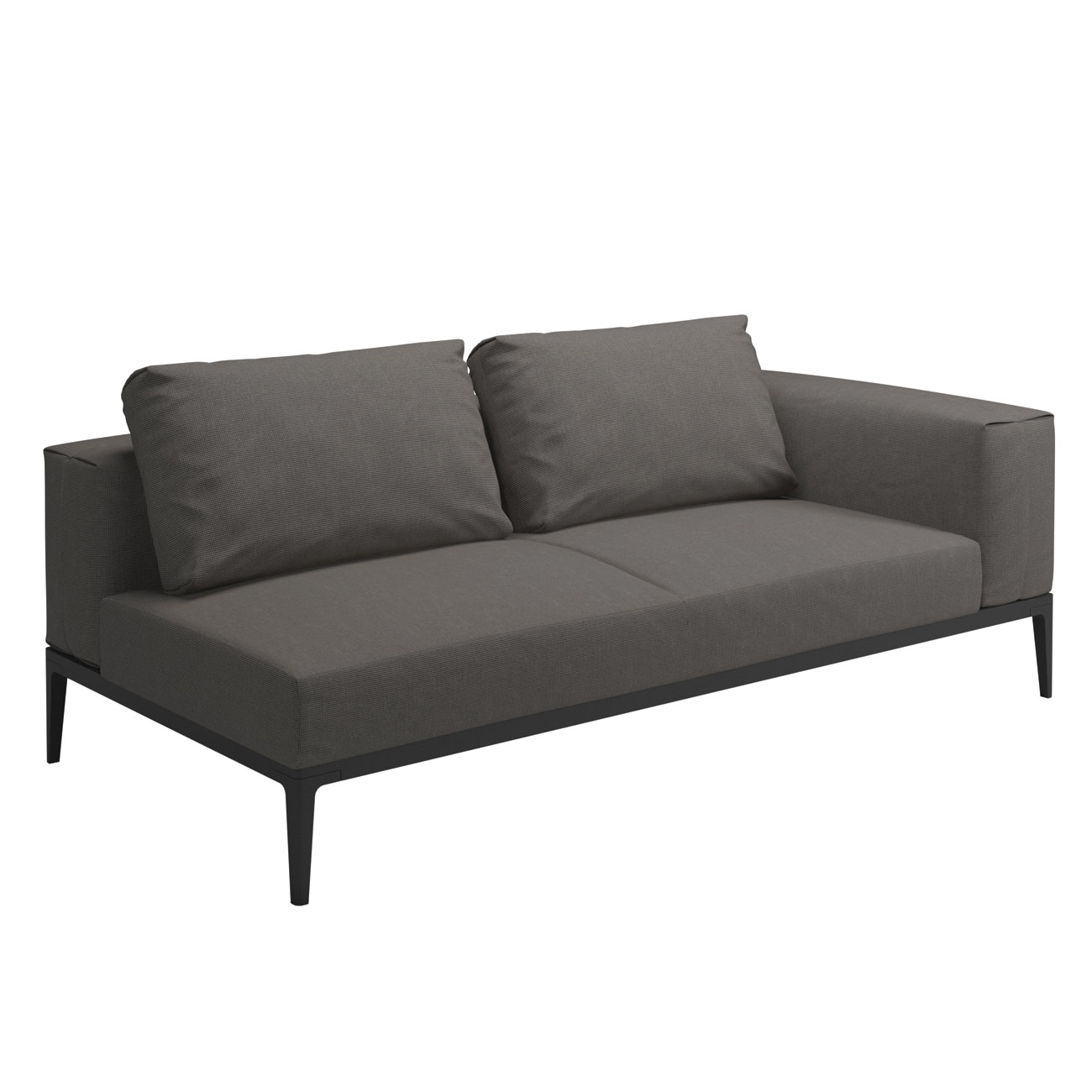 Gloster grid modular sofa end unit luxury outdoor living for Sofa modular gris