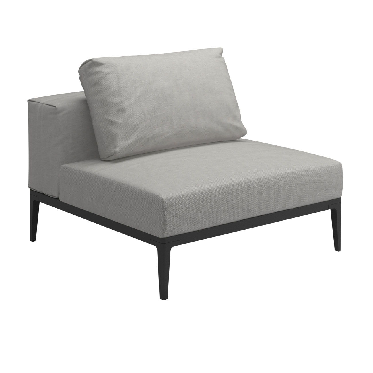 Gloster grid modular sofa center unit luxury outdoor for Sofa modular gris