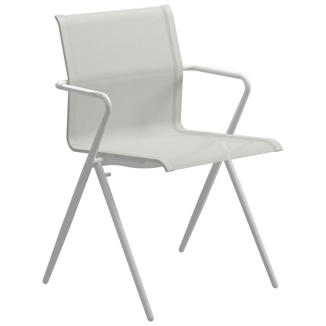 Gloster Ryder Stacking Chair White Frame Luxury