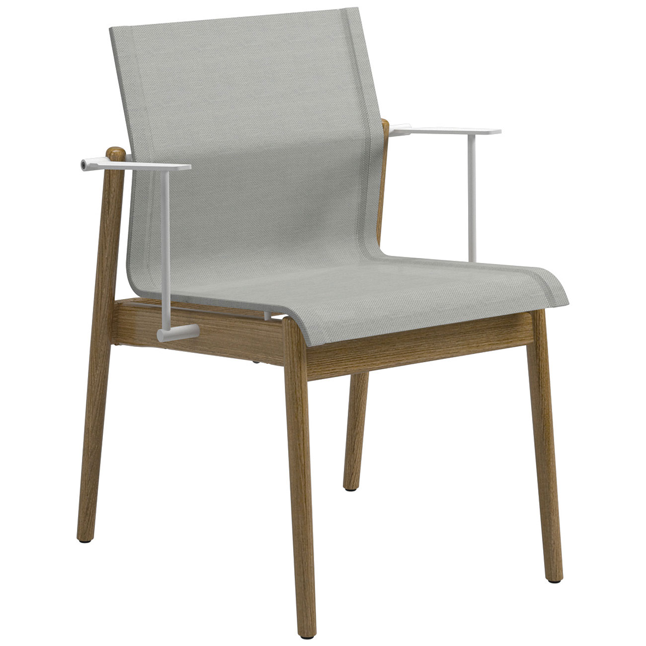 Oven Stabilizer Arm : Gloster sway teak stacking armchair white frame