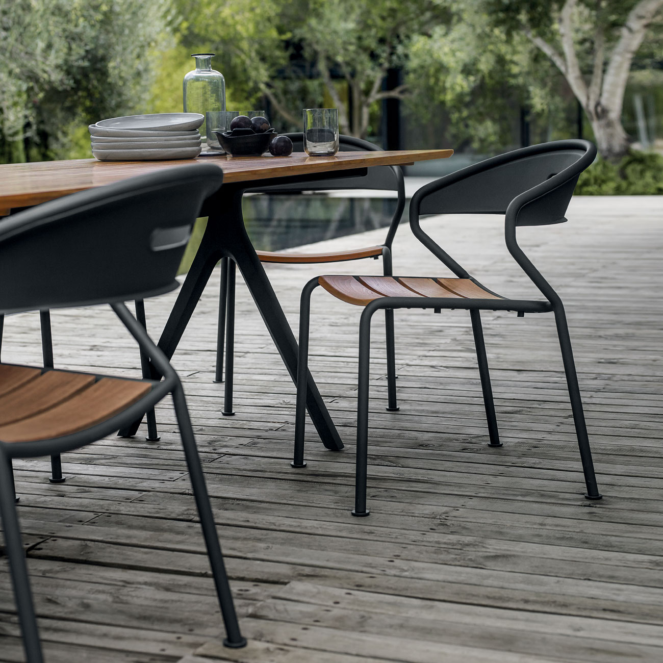 Gloster Split Teak Dining Table Luxury Outdoor Living