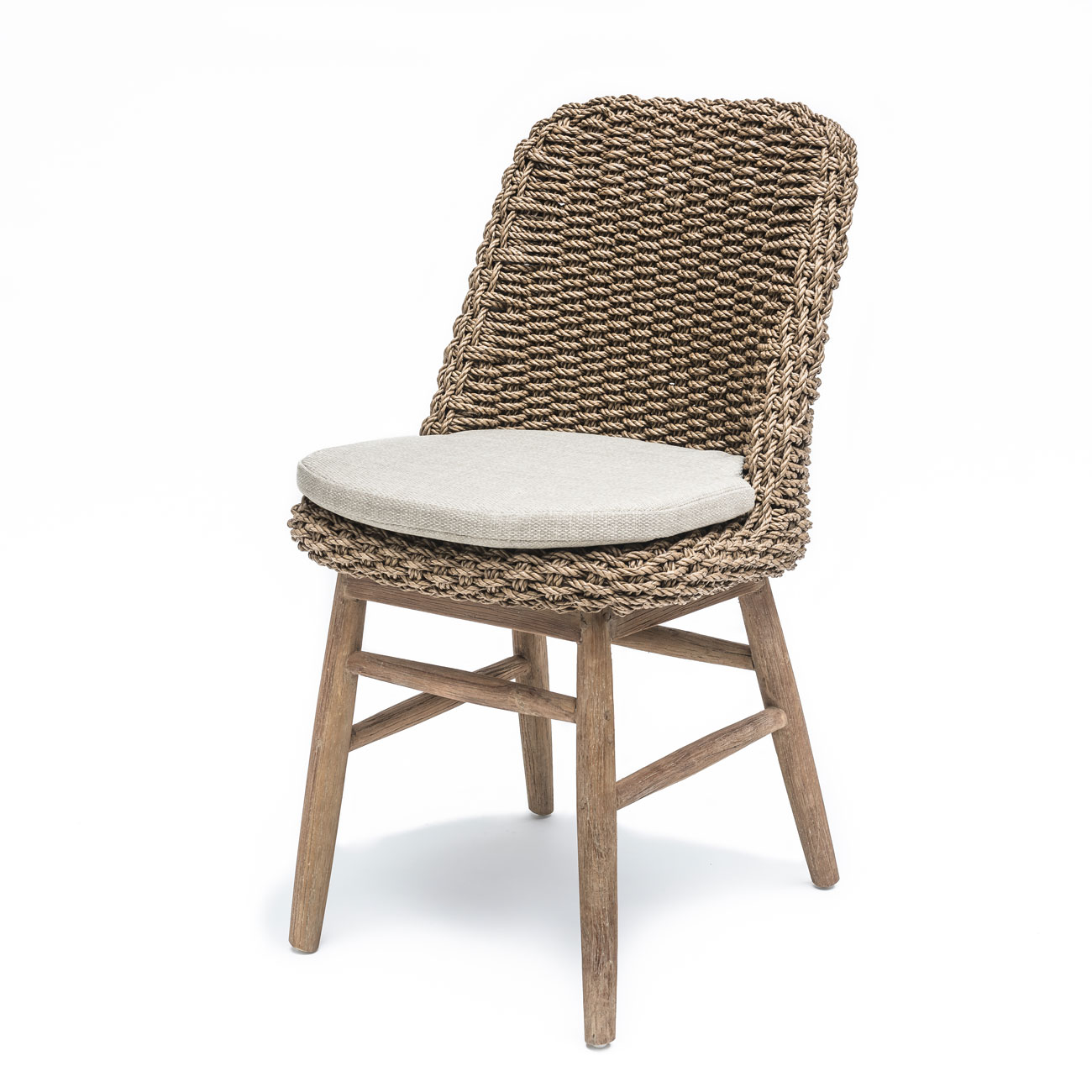 Rattan Dining Chairs: Gommaire Sienna Teak & Rattan Dining Chair