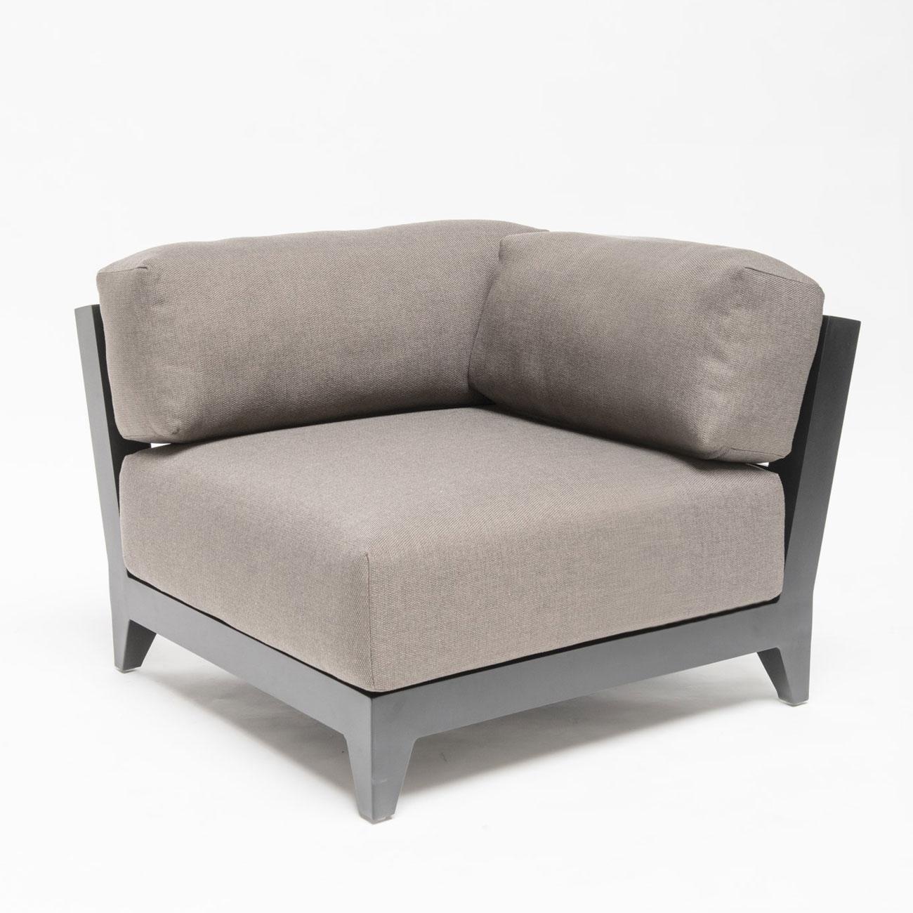 Garden Sofa Corner Unit: Gommaire Mia Aluminium Modular Sofa