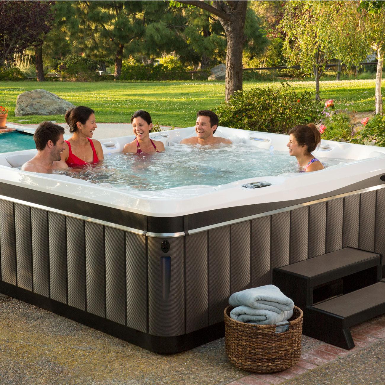 caldera spa cantabria model 8 person luxury outdoor living. Black Bedroom Furniture Sets. Home Design Ideas
