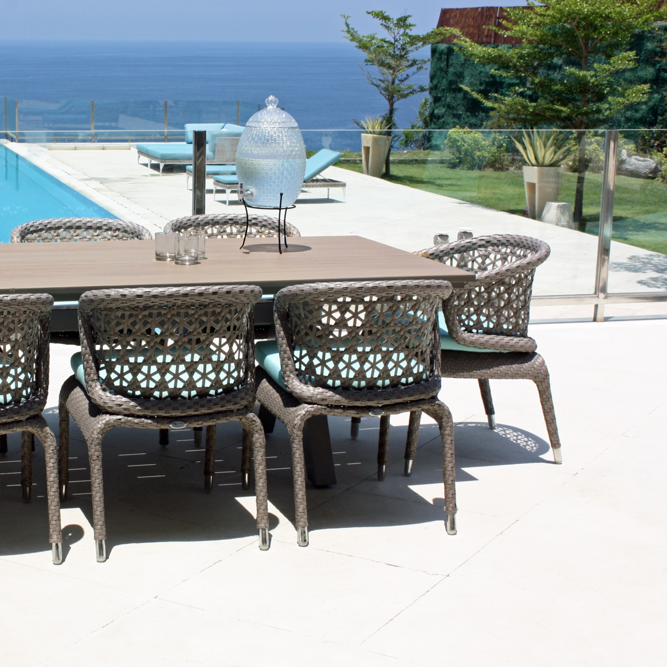 Skyline Journey Rectangle Table Seats 8 Luxury Outdoor Living