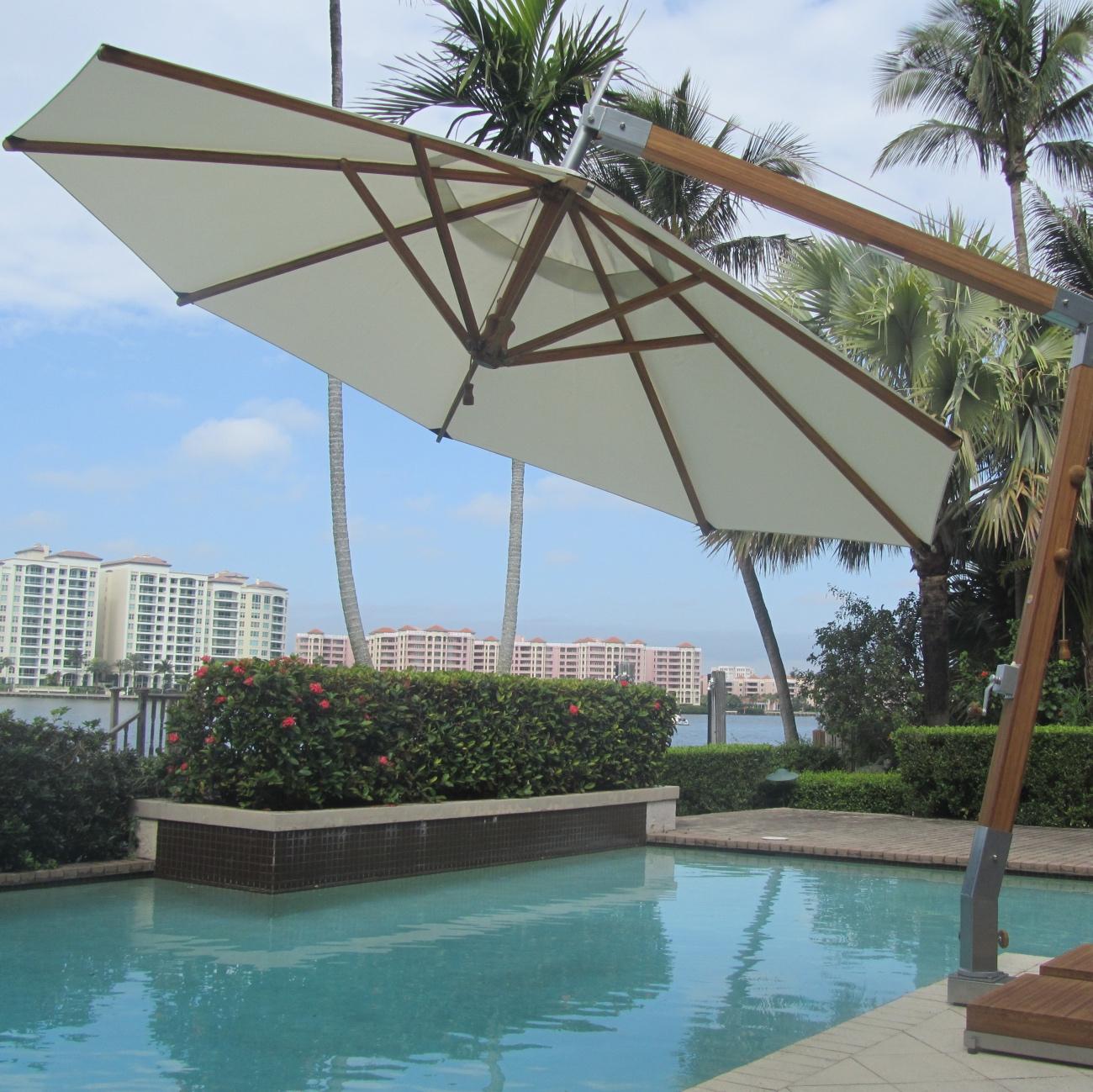 luxury cantilever parasol luxury outdoor living. Black Bedroom Furniture Sets. Home Design Ideas
