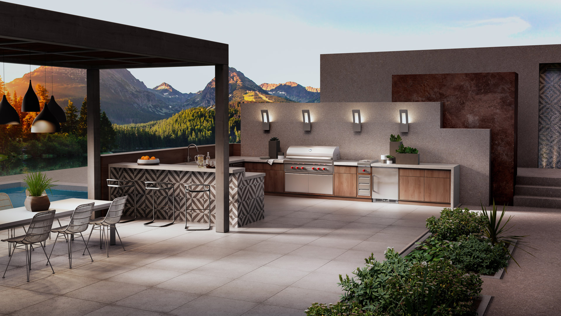 Luxury Outdoor Living The Home Of Contemporary Garden Luxury